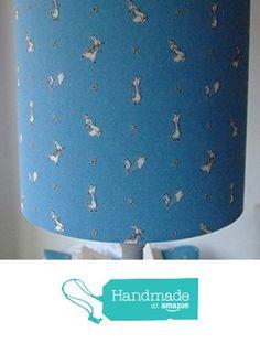 Beatrix Potter Peter Rabbit - Handmade Nursery Table Lampshade 20 cm Drum from Evie Eccles Handmade Lampshades https://www.amazon.co.uk/dp/B01N3NU0IU/ref=hnd_sw_r_pi_dp_8.phyb6D59JF7 #handmadeatamazon