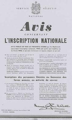 Avis de mobilisation nationale 1942