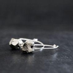 Raw Pyrite Earrings