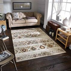 Zarah Rugs 190 B buy online from the rug seller uk New Homes, Room Inspiration, Geometric Area Rug, Rugs, Living Room Inspiration, Cream Rug, Modern Rugs, Geometric Rug, Living Room Designs