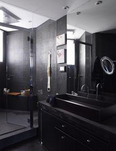 Fashion designer Kenzo Takada opens the doors to his beloved Paris apartment. Paris Apartments, Other Rooms, Kenzo, Double Vanity, Sink, Castle, Doors, Mirror, Fashion Design