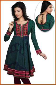 Navy Blue Readymade Cotton Tunic Online Shopping: THS6