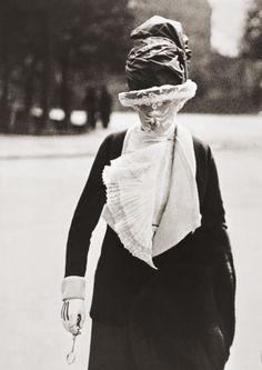 Jacques Henri Lartigue. Veiled woman. Paris, 1910.