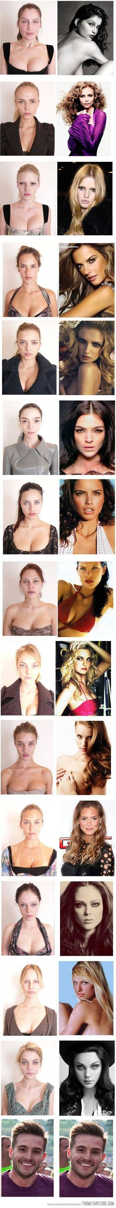 Funny famous supermodels no make up