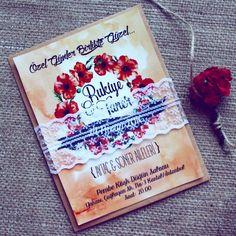 Davetiye / Wedding invitation / Wedding bouqets