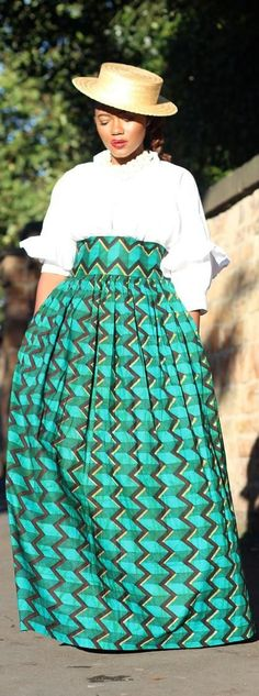 High Waist Maxi Skirt in African Print Real Dutch Wax by IYAYAH, $105.00 I am repining this item
