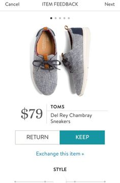 TOMS Del Rey Chambray Sneakers from Stitch Fix. https://www.stitchfix.com/referral/4292370