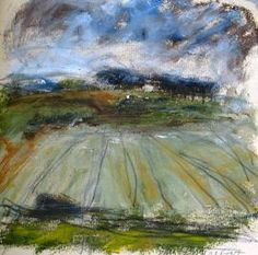 Artist Louise Balaam creates atmospheric landscapes and abstract paintings in Sevenoaks Kent South East England uk