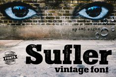 Buy Sufler - 2 vintage fonts by Redbat on GraphicRiver. Sufler is a set of 2 hand-drawn fonts inspired by vintage ads, old newspapers and retro sign painting. Vintage Fonts, Vintage Ads, Slab Serif Fonts, Hand Drawn Fonts, Vintage Drawing, Old Newspaper, Lettering, Premium Fonts, All Fonts