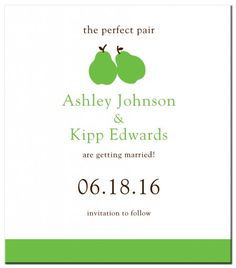 The Perfect Pair Save the Date Magnet from www.papersnaps.com    http://www.papersnaps.com/save-the-date/wedding-save-the-dates/save-the-date-magnets/the-perfect-pair-save-the-date-magnet.html    #SpringWedding