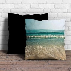 Beach photography vintage Pillow | Aneend