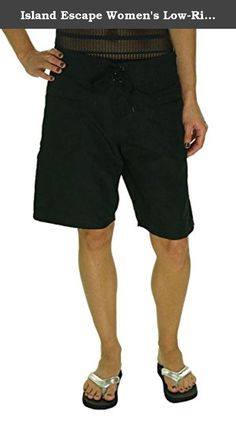 a697100c89 Island Escape Women's Tie Front Surf City Low Rise Board Shorts Black) –  Todays Shopping