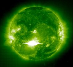 Scientists Detect Antimatter Particles in Solar Flares Researchers from the United States and Russia analyzing microwave and magnetic-field data from solar-dedicated facilities and spacecraft have reported the first detection of positrons in solar flares.