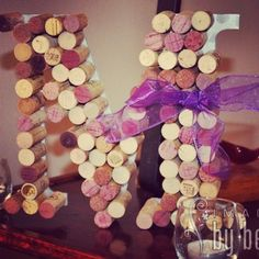 Wine Cork Letter M by KaylasWineKrafts on Etsy, $20.00