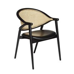 The Umami cane armchair features a backrest made from two bentwood beech pieces that curve together and combine with the legs to create a slender frame. The upholstered seat is comfortable, the cane back intriguing. The cane is woven by hand, adding an artisanal element into the mix and when paired with the light frame, creates a truly contemporary cane chair. Contemporary Dining Chairs, Contemporary Style, Outdoor Chairs, Outdoor Furniture, Outdoor Decor, Fabric Suppliers, Side Chairs, Upholstery, Armchairs