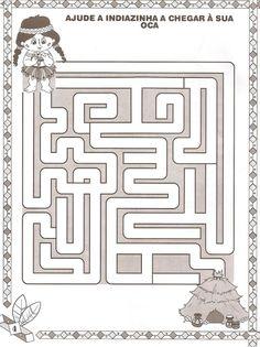 Zoek de juiste weg voor het indiaantje, free printable