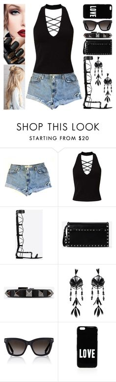 """""""Street Style"""" by jessicagrewal ❤ liked on Polyvore featuring Levi's, Miss Selfridge, Valentino and Givenchy"""