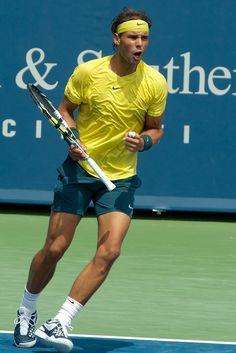 Rafael Nadal gets pumped up in Cincy.