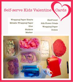 KIDS VALENTINE IDEAS – HOW TO SET UP A SELF-SERVE CARD STATION