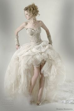 Marina Mansanta Wedding Dresses -- Ninfe Bridal Collection