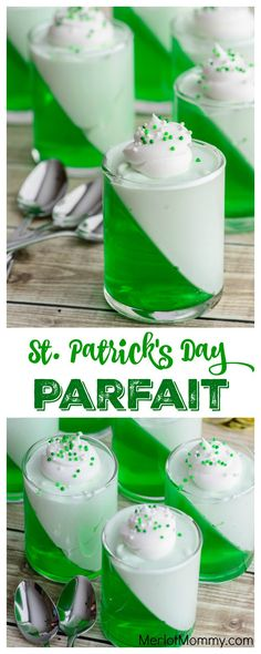 St. Patrick's Day Parfaits