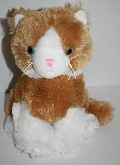 """Best Made Toys plush stuffed cat kitten orange tabby white  blue eye 10"""" soft"""