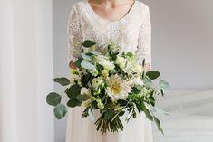 INNA Studio_bridal bouquet / greenery / bukiet ślubny / zielony bukiet / fot. TiAmoFoto