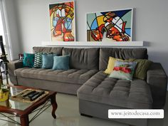 Jeito de Casa Sofa, Couch, Sweet Home, Living Room, Furniture, Home Decor, Drawing Room Decoration, Gardening, Arquitetura