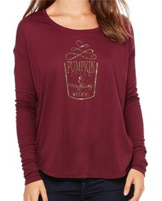 0f71124df04 Bella + Canvas 8852 - Ladies  Flowy Long Sleeve T-Shirt With Rib Sleeves -  Wholesale and Bulk Pricing Available
