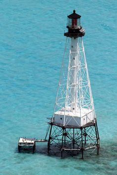 Alligator Reef Lighthouse, Florida at Lighthousefriends.com