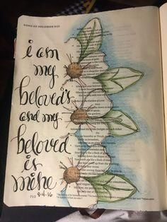Song of Solomon 5:3 Sherrie Bronniman-Art Journaling: In My Bible