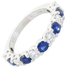 18 Karat Diamond an Sapphire Band