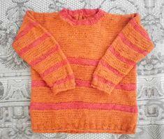 Sicilia Italia - Handknitted: LUCIA PIANA, kid's jumper in cotton or linen/cotton from the line Ypspigraccia - domoras