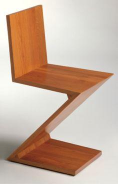 zigzag chair 1934 Gerrit Rietveld Italia