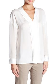 Long Sleeve Embroidered Blouse