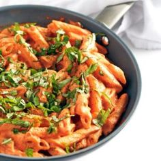 Tomato Basil Cream Pasta Recipe | Well Vegan