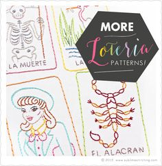 Loteria Cards #2 Embroidery Patterns from Sublime Stitching