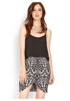 F21 CONTEMPORARY Regal Baroque Pencil Skirt - on #sale 26% off @ #Forever21  #F21Contemporary