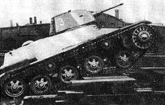 Retouched photo light tank Landsverk L- 100, which in a number of sources identified as L- 100A border =