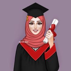 My dream: One day when i'll get degree i will sing this song degree hasil ki and do the degree step on the spot in the crowd inshallah Girly M, Girl Wallpaper, Cartoon Wallpaper, Girl Cartoon, Cartoon Art, Sarra Art, Hijab Drawing, Bff Drawings, Cartoon Drawings