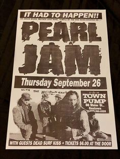 195d41eb2c5 Details about Pearl Jam Mookie Blaylock Telephone Pole Poster Town Pump  Mother Love Bone