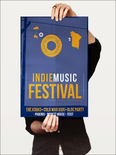 Indie Music Festival - Poster by Andrew Cunneen, via Behance