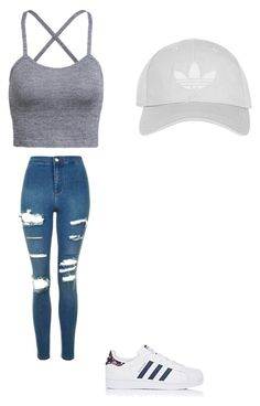 """Cute outfit"" by fungiral on Polyvore featuring Topshop and adidas"
