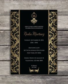Sweet 16 Elegant Birthday Party Invitation Digital Print by CornerHouseGraphics, $14.99