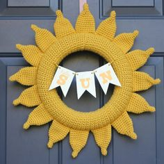 Welcome Summer with this 2-skein Crochet Sun Wreath! It will make every day bright and cheery.