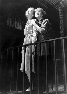 "Julie Haydon, left, with Laurette Taylor in the 1945 Broadway production of ""The Glass Menagerie."" Credit Everett Collection"