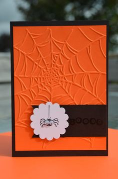 Hand Stamped Stampin' Up Halloween Boo Google by LoveThoseCards, $3.50
