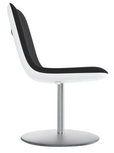 Chaise pivotante Boum / Rembourrée Noir - Kristalia - Décoration et mobilier…