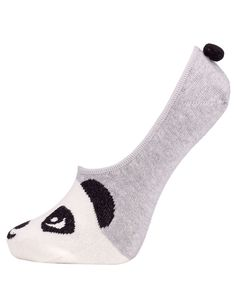 Panda Ballerina Sock | Grey | Accessorize 5,50e Panda Socks, Ballerina Slippers, Accessorize Bags, Slipper Socks, School Uniform, Women's Accessories, Girly, Mens Fashion, Purses