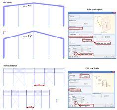 Dlubal RFEM 5 & RSTAB 8 - Easy Geometry Adjustments of 3D Hall: Roof Inclination and Frame Spacing | https://www.dlubal.com/en | #bim #cad #cae #din #dlubal #dynamics #eurocode #engineering #engineeringsoftware #fea #fem #rfem #rstab #rxtimber #statics #structuralanalysis